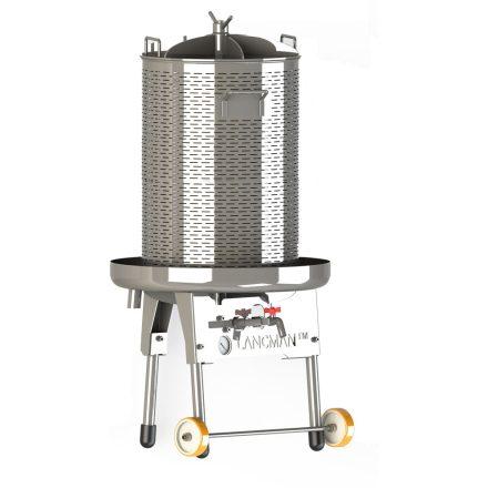 Inox víznyomásos prés 35L (nem dönthető)