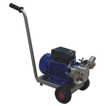 Gumilapátos szivattyú kocsival és kapcsolóval (7200 l/h, 3 fázis)