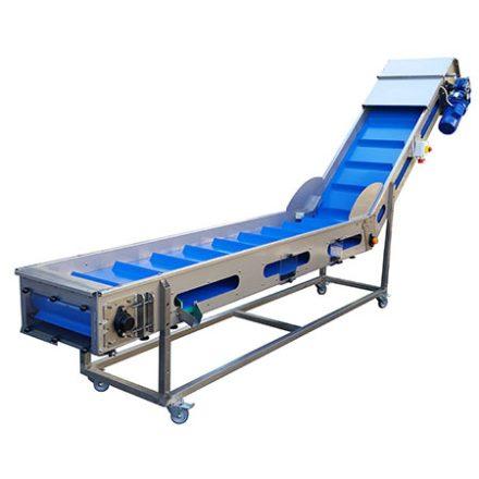 Válogató és töltőasztal 4600x600mm