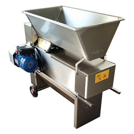 ENO 20 zúzó bogyózó (1500-1800 kg/h, műanyag csiga, rozsdamentes)