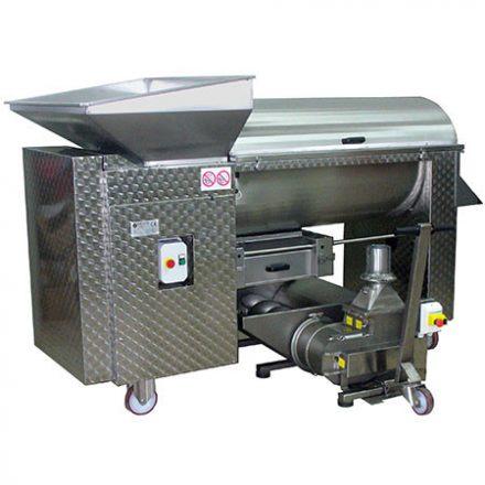 Elliptikus szivattyú csigás garattal (12000-15000 kg/h, erősebb motorral)